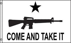 COME AND TAKE IT RIFLE 3 X 5 FLAG (Sold by the piece)