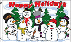 HOLIDAYS SNOWMEN 3 x 5 FLAG (Sold by the piece)