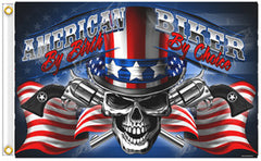 AMERICAN BIKER DELUXE 3 X 5 MOTORCYCLE BIKER FLAG (Sold by the piece)
