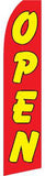 SUPER SWOOPER 15 FT YELLOW RED OPEN FLAG  (Sold by the piece)