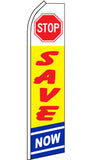 SUPER SWOOPER 15 FT STOP SAVE NOW FLAG  (Sold by the piece)