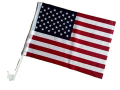 CAR WINDOW AMERICAN FLAGS (Sold by the piece OR DOZEN ) * CLOSEOUT * SALE $ 1EA