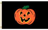 CARVED PUMPKIN FACE halloween  3 X 5 FLAG ( sold by the piece )