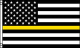 AMERICAN THIN YELLOW LINE law enforcement  3 X 5 FLAG ( sold by the piece )