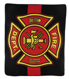 FIRE DEPARTMENT LARGE 50X60 IN PLUSH FIRE FIGHTER THROW BLANKET ( sold by the piece )