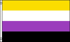 NON-BINARY transgender pride Rainbow 3 X 5 FLAG ( sold by the piece )