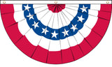 AMERICAN USA BUNTING HANGING BANNER 5X3 FLAG ( sold by the piece )