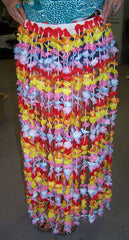 ADULT SIZE FLOWER HAWAIIAN HULA SKIRT (Sold by the piece) CLOSEOUT $ 3.00 EA