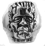 FRANKENSTEIN MONSTER STAINLESS STEEL BIKER RING ( sold by the piece )
