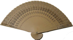 WOODEN 8 INCH HAND FANS (Sold by the dozen)