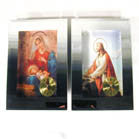 ASSORTED RELIGIOUS CLOCKS WITH MIRROR FRAME (Sold by the piece) -* CLOSEOUT NOW ONLY 1.00 EA