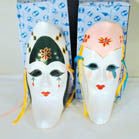 MOON SHAPED CERAMIC MASKS (Sold by the piece) -* CLOSEOUT NOW as low ONLY 1 EA
