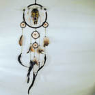 WOLF WITH COW SKULL DREAM CATCHER (Sold by the piece) *- CLOSEOUT NOW $5 EA