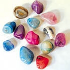 COLORED GEMSTONE ROCKS (Sold by the pound)