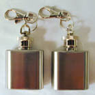 SQUARE FLASK KEY CHAIN (Sold by the piece OR dozen ) -* CLOSEOUT ONLY 1.95 EA