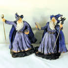 LARGE 12 INCH ceramic WIZARD WITH CANE (Sold by the piece) * CLOSEOUT NOW ONLY $5.00 EACH