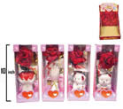 PORCELAIN VASE GIFT SET WITH FLOWER ROSE  (Sold by the dozen) -* CLOSEOUT NOW ONLY $1.00 EA