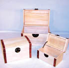 THREE PIECE WOODEN TREASURE CHESTS (Sold by the set) -* CLOSEOUT NOW ONLY $ 10 EA