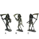 PEWTER GRIM REAPER SKELETON FIGURES (Sold by the piece) -* CLOSEOUT ONLY 1.50 EA