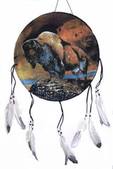 BUFFALO WAR SHIELD 16 INCHES DREAM CATCHER (Sold by the piece) -* CLOSEOUT NOW ONLY $ 2.50 EA
