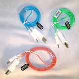 LIGHT UP LED ANDROID MINI USB CELL PHONE CABLE ( sold by the piece) CLOSEOUT $ 2.95 EA