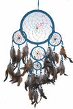 BLUE RAINBOW DREAMCATCHER 24 INCH  (Sold by the piece)
