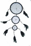 COW SHELL BLACK DREAMCATCHER 18 INCH  (Sold by the piece)