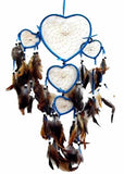 BLUE HEART SHAPED DREAMCATCHER 24 INCH  (Sold by the piece)
