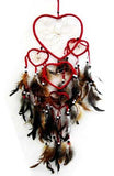 RED HEART SHAPED DREAMCATCHER 24 INCH  (Sold by the piece)