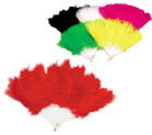 LARGE 8 INCH FLUFFY FEATHER HAND FANS (Sold by the dozen) *- CLOSEOUT NOW $1 EA