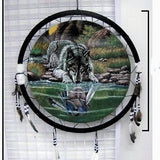 GIRL WOLF REFLECTION JUMBO WAR SHIELD (Sold by the piece) -* CLOSEOUT ONLY 7.50 EA