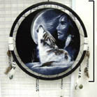 GIRL MOON WOLF JUMBO WAR SHIELD (Sold by the piece)