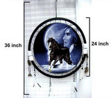 RUNNING HORSES WOMAN MOON JUMBO WAR SHIELD (Sold by the piece) CLOSEOUT 7.50 EA
