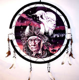 LARGE MEDICINE MAN BUFFALO JUMBO WAR SHIELD (Sold by the piece)