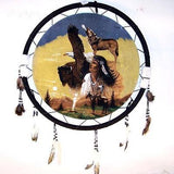 EAGLE WOLF GIRL JUMBO WAR SHIELD (Sold by the piece) -* CLOSEOUT ONLY 7.50 EA