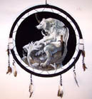 HUNTING WOLF JUMBO WAR SHIELD (Sold by the piece)