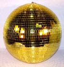 16 INCH GOLD MIRROR REFLECTION DISCO BALL (Sold by the piece)