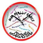 WHO REALLY CARES WALL CLOCK (Sold by the piece) -* CLOSEOUT NOW ONLY $ 3.50 EA