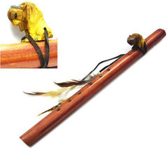 BUFFALO JUMBO WOODEN FLUTE (Sold by the piece)
