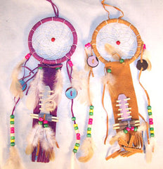 LARGE LEATHER DREAMCATCHERS (Sold by the PIECE OR dozen)