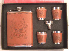 SKULL X BONES FLASK SET (Sold by the piece)