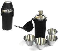 CAMPING FLASK SET WITH 4 CUPS (Sold by the piece)