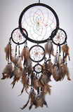 BLACK RAINBOW DREAMCATCHER 24 INCH  (Sold by the piece)