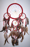 RED RAINBOW DREAMCATCHER 24 INCH  (Sold by the piece)