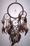 DARK BROWN RAINBOW DREAMCATCHER 24 INCH  (Sold by the piece)