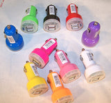 *CLOSEOUT* DUAL USB CAR CHARGER PLUG PHONE ACCESSORY * OLD STYLE* ( sold by the piece)