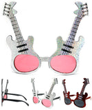 METALLIC GUITAR PARTY GLASSES (Sold by the piece or dozen )