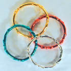 METALLIC BANGLE BRACELETS (Sold by the gross - 144 PC) CLOSEOUT NOW 10 CENTS EA