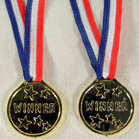 GOLD COLOR WINNER MEDALLIONS (Sold by the dozen)