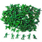 GREEN PLASTIC TOY ARMY MEN SOLDIERS (Sold by the gross)